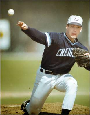 Brian O'Connor pitching for Creighton