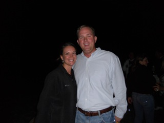 Charlie and Melissa at Harvest-Playoff Celebration Bonfire