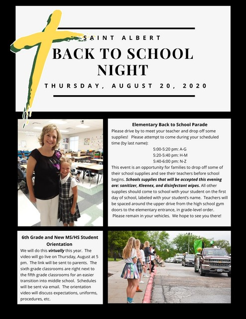 SA Elementary Meet Your Teacher Night 2020