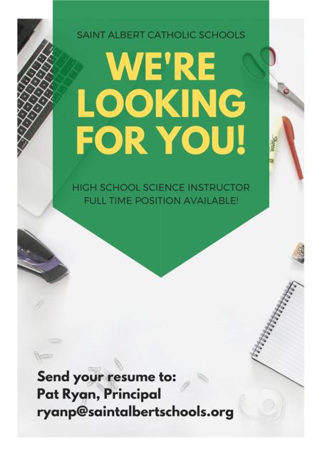 SA Science Teacher 2020