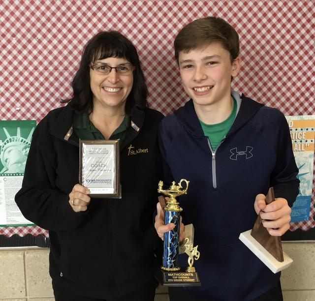 Grant Springman MathCounts Champion February 2019