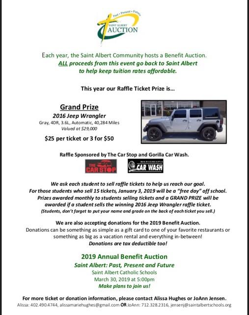 2018 Auction Raffle