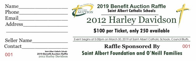 2019 SA Auction Harley Raffle