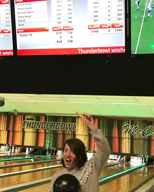 2019 Alumni & Friends Bowling Erin Ryan pumped about her 155