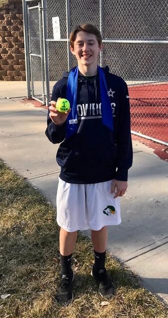 Carter White 1st Career Tennis Win April 2019