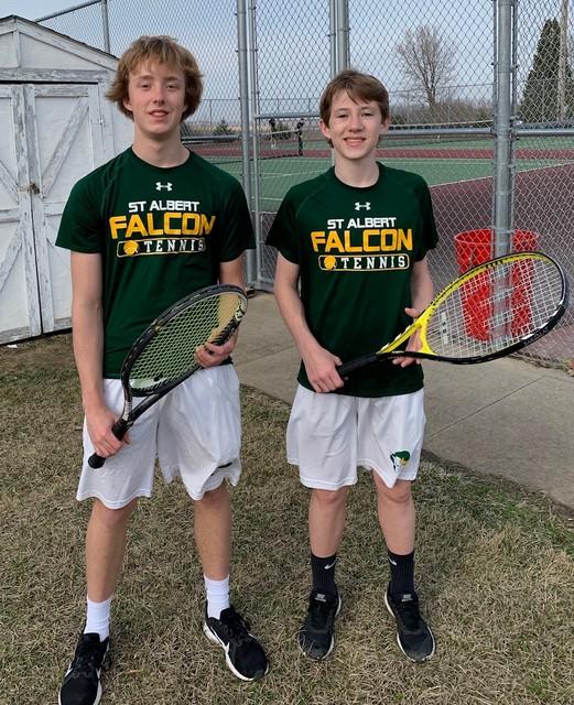 2019 Falcon Tennis Sam Narmi and Carter White