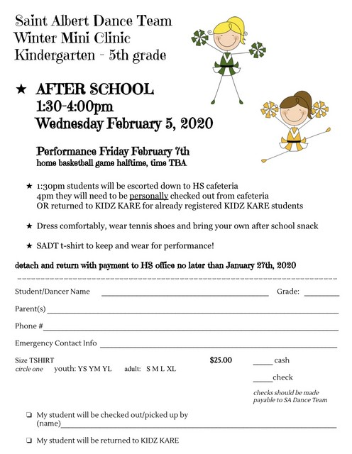 2020 SA Dance Team Winter Mini Clinic