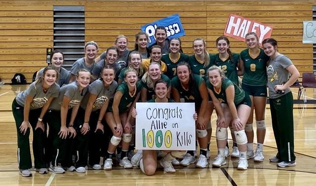 2020 Saintes Volleyball Allie Petry 1000 career kills