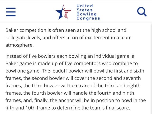 2020 Bowling Baker Series Explanation