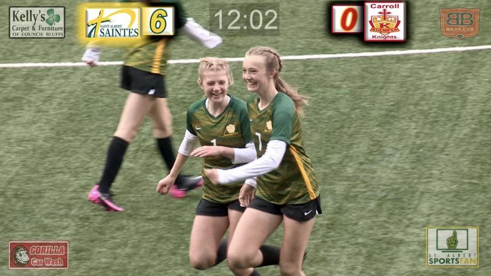 2021 Saintes Soccer at Creighton Lily Krohn and Ella Klusman