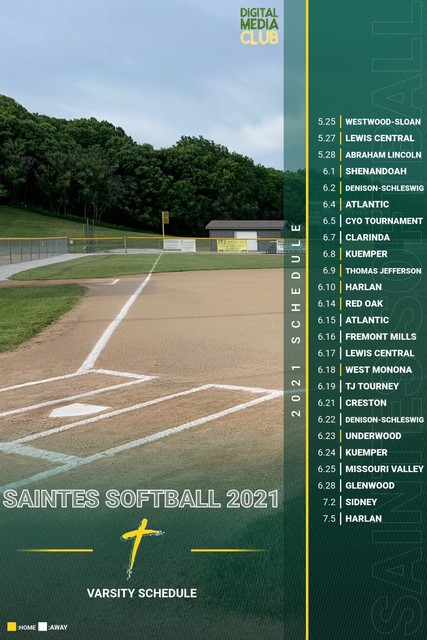2021 Saintes Softball Schedule