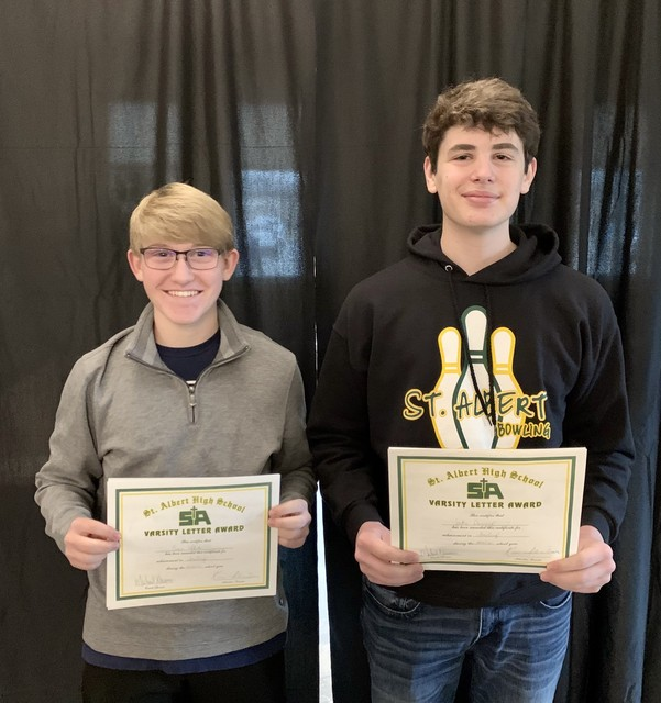 2021 Fred Wager Bowlers of the Year Evan White and Jake Denny