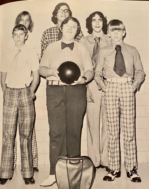 Fred Wager holding the bowling ball