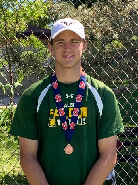 2021 Jeff Miller 4th Place at State Tennis