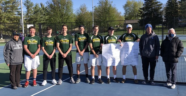 2021 Falcon Tennis at the Hawkeye 10 Conference Tourney 1