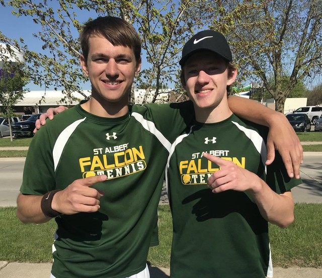 2021 Falcon Tennis at the Hawkeye 10 Conference Tourney 3
