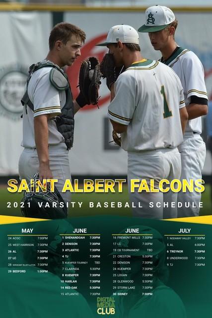 2021 Falcon Baseball Schedule