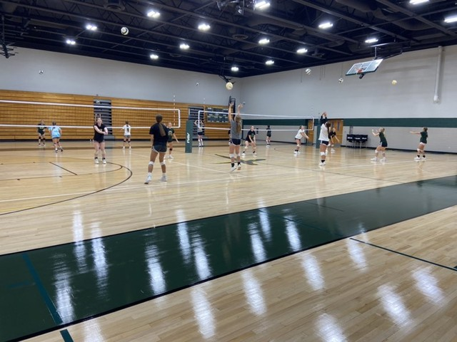 2021 Saintes Volleyball in the newly remodeled gym