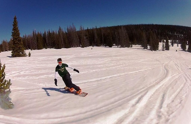 Jack Geier back country snowboarding in Wyoming - March 2015