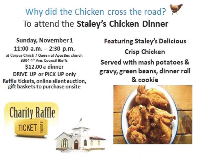 2020 Corpus Christi Staley Chicken Dinner