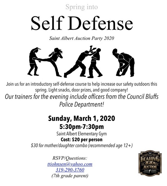 2020 SA Auction Party Self Defense Class