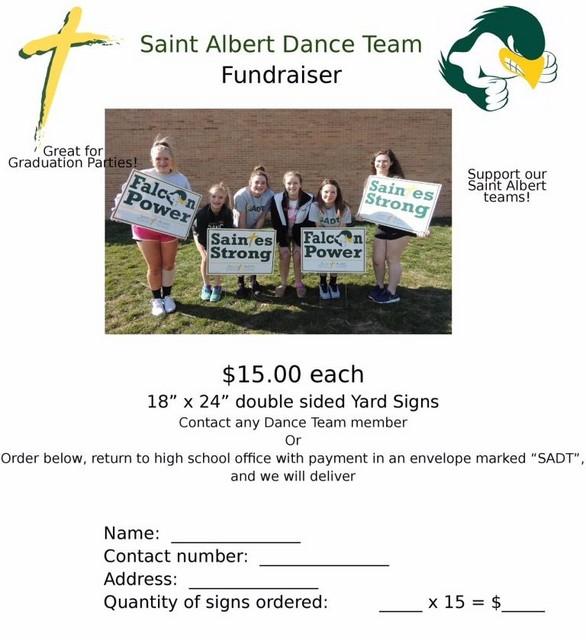 SA Dance Team Fundraiser 3 Spring 2018