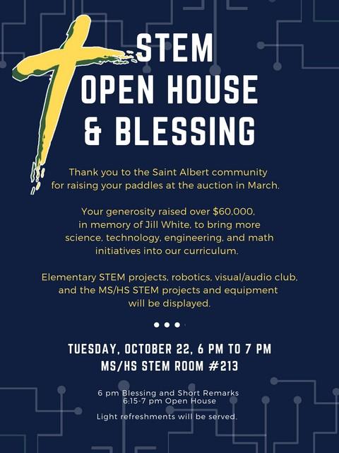 STEM Open House & Blessing 2019