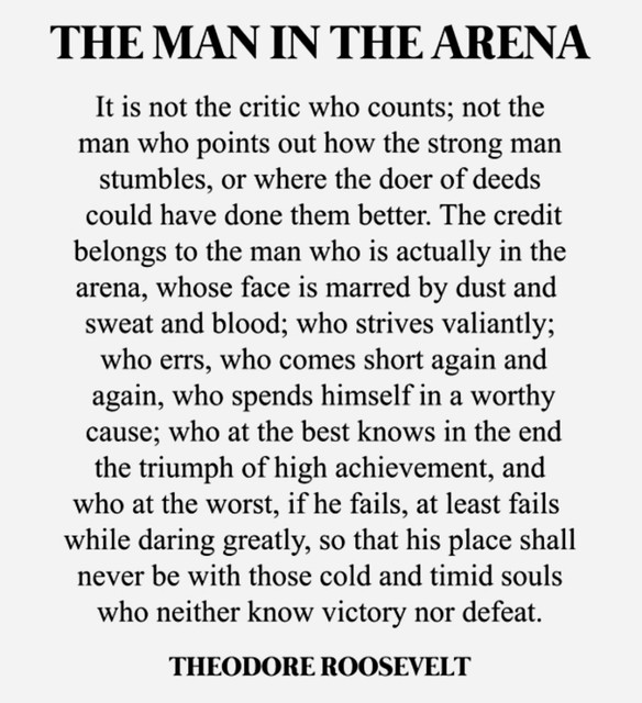 Teddy Roosevelt Man in the Arena