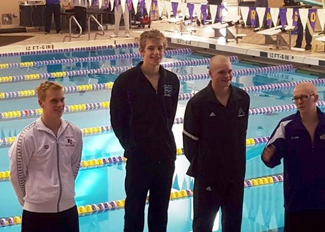 Jackson Allmon wins District Swimming 500 2016