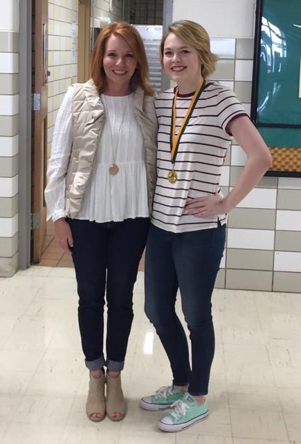 2016-2017 Cheerleading Banquet: Spirit Award Winner - Sophomore Maggie King