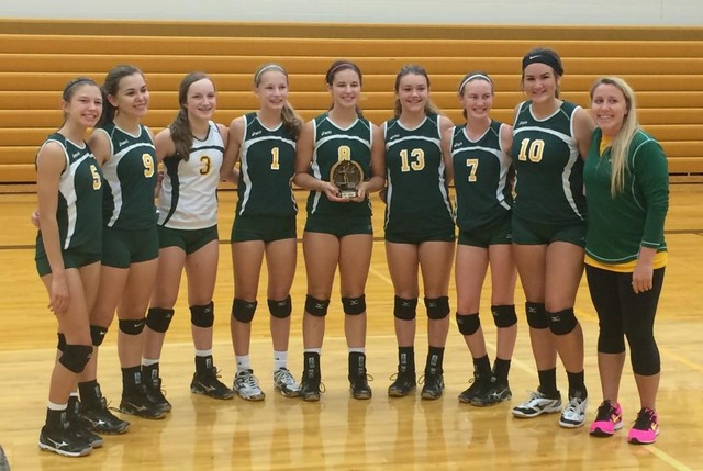 Saintes JV Volleyball Team wins Woodbine Tourney 8.27.16