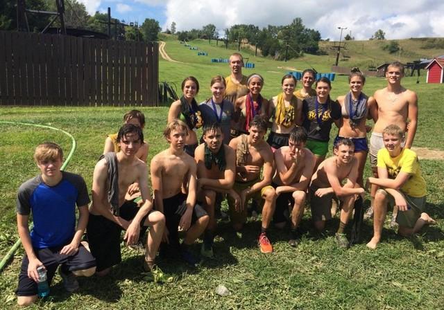 Falcons & Saintes at the Mudzilla Mud Run at Mt. Crescent 8.27.16