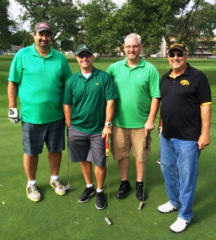 2nd Flight 2nd Place at -6: Paul Hospodka, Paul Wettestad, Dr. Greg Thomas & Brad Eggert