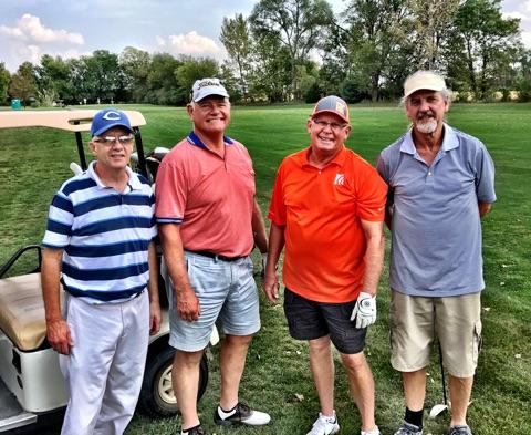 Rick Fetter, Tim Daugherty, Pat Shadden & Ron Spracklin.2nd Flight - 2nd Place at -5.