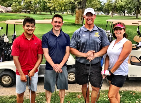 Julian Mendoza, Tucker Culjat and Kevin & Bonnie Culjat.2nd Flight - 3rd Place at -5.
