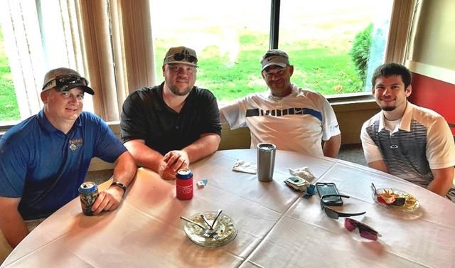 Corey Hackett, Glenn Cook, Jeremy Petry and Jake Petry.Corey Hackett - Closest tee shot on #8.